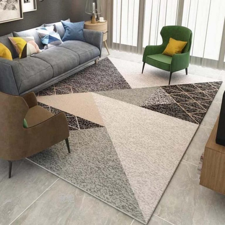 120x160CM Nordic Geometric Living Room Floor Mat Carpet Non Slip Tea Table Mats Large Sofa Rugs Soft Bedside Footcloth Absorbent Bedroom Carpets