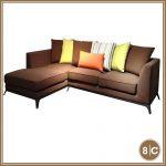 8C K893 3-seater+ 1chaise Sofa brown L-shape sofa
