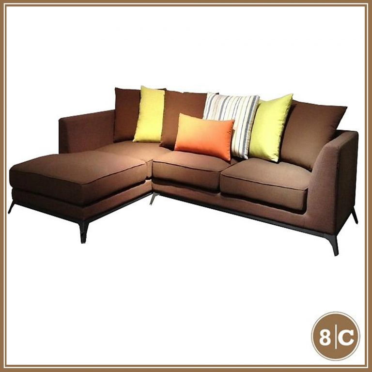 8C K893 3-seater+ 1chaise Sofa brown L-shape sofa