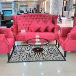 Sofa Set Chair Benhur Red