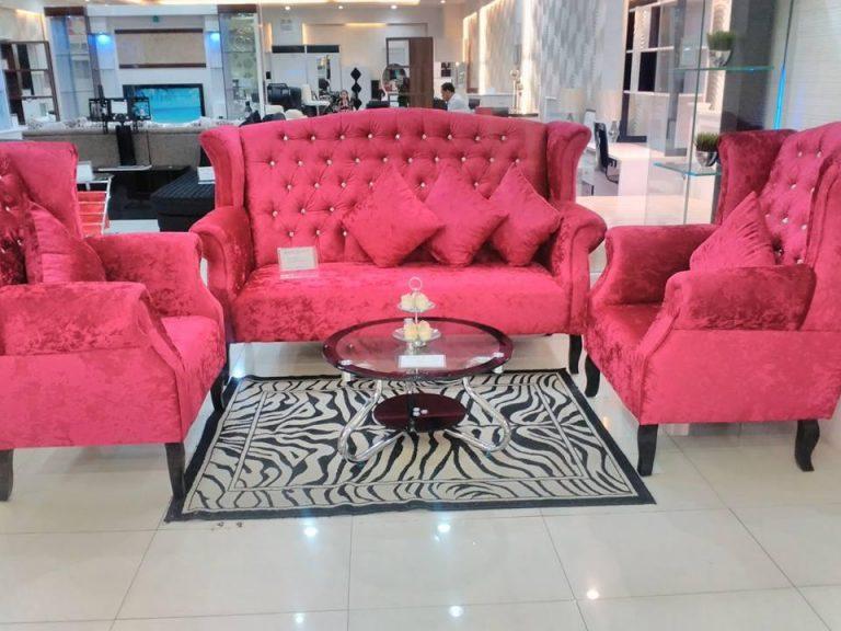 Sofa Set Chair Benhur Red