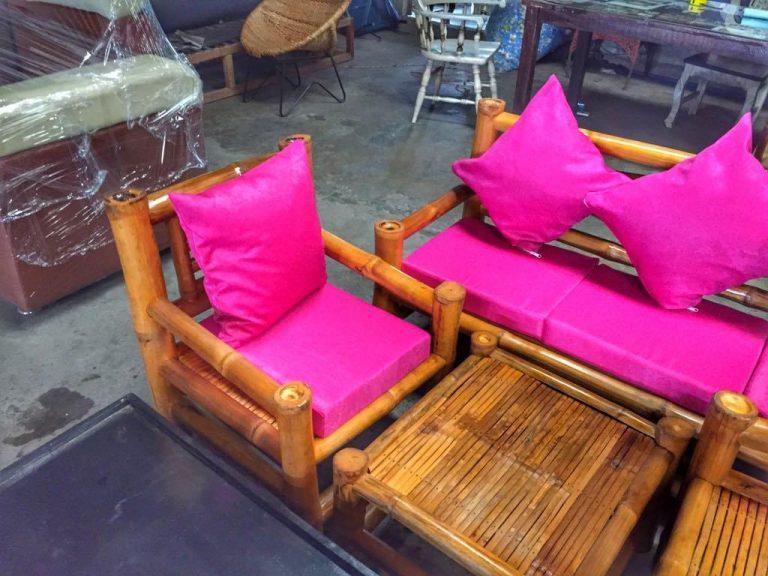 Bamboo sala set with Cushion