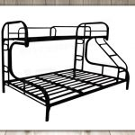 Tailee Furniture Detachable Double Deck Steel Bed Frame (Black)
