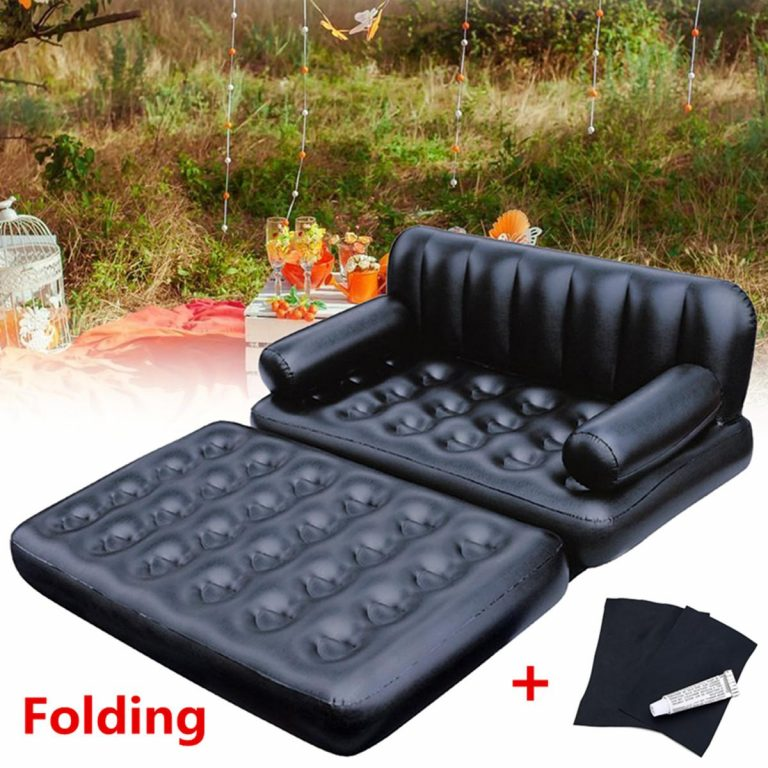 Blow Up Sofa Bed Inflatable Couch Double Chair Indoor Outdoors Camp Guests Spare