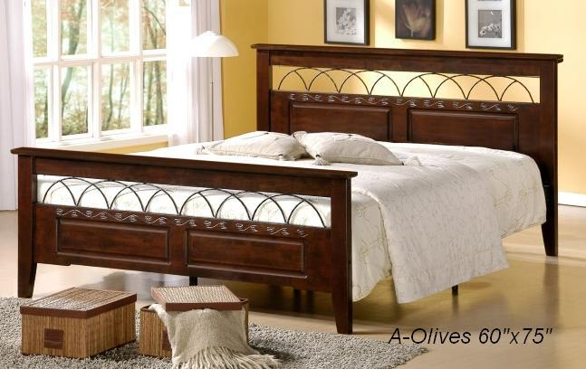 "ihome O 60""x75"" Queen Size Wooden Bed"