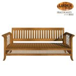 Linden Teak Handcrafted Solid Teak Wood 092 Chair 3 Seater Furniture (Gold Teak Series Indoor Design)
