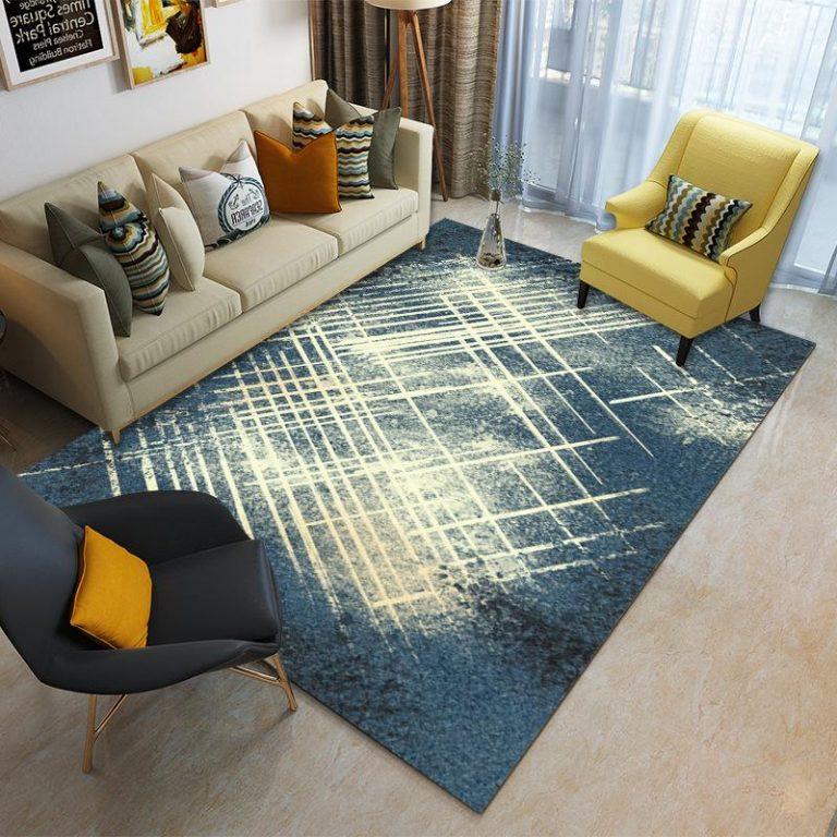 120x160cm Rectangular Anti-slip Drawing Room Carpet Dustproof Floor Mat Nordic Style Rugs for Bedroom Bedside Tea Table Sofa Entrance Balcony Tatami Mats