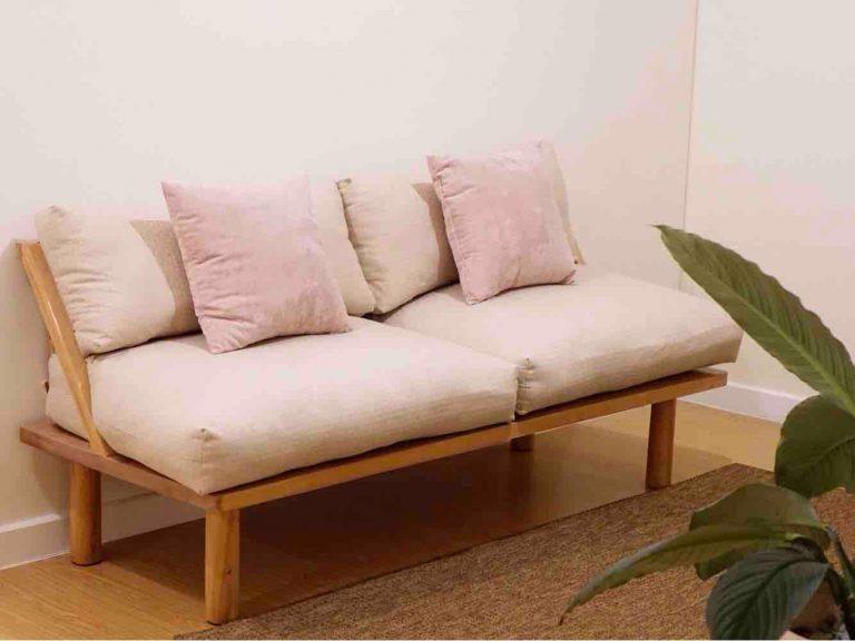 Brand New 2-Seater Wide Birchwood Sofa