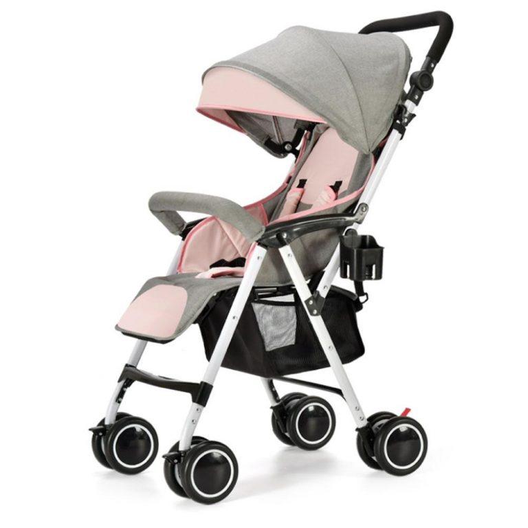 Baby Stroller Laid Down Folding Portable Baby Umbrella Cart
