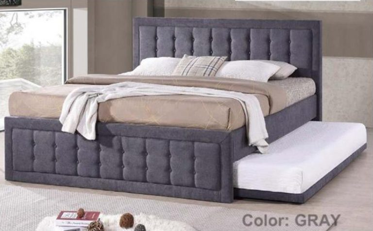 Wooden Bed with Pullout 36 code: JIT 7809 60X75(Gray)