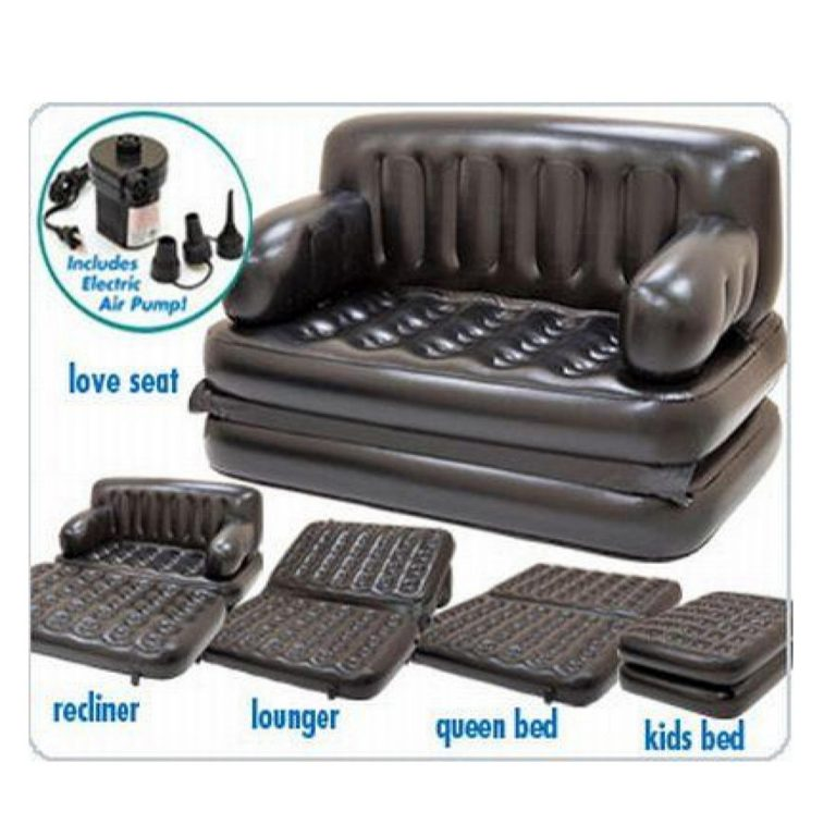 5 in 1 Multifunctional Inflatable Air Lounge Comfort Sofa Bed