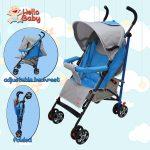 Hello Baby 818 Baby Stroller Portable Folding Infant Umbrella Stroller