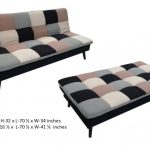 Checkered Fabric SofaBed