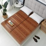 Bamboo Foldable Natural Summer Cool Sleeping Mat Pad Single Twin Student School Bed Mattress Full/Queen Size - intl