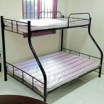 Double Deck Rtype bed frame with regular foam