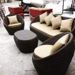Outdoor Egg Sofa Set