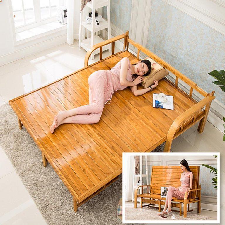 Kruzo Bamboo Folding Sofa Bed (120cm)
