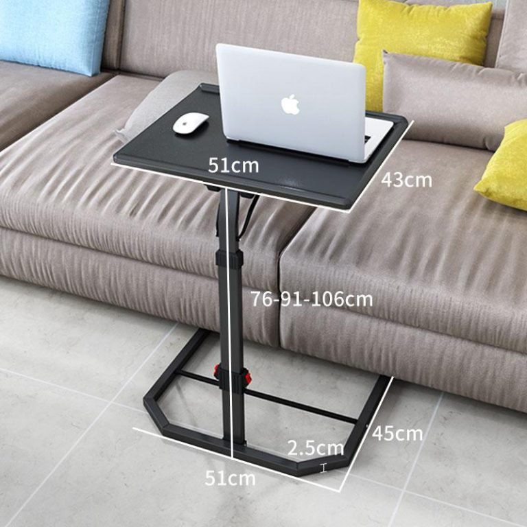 Simple Lazy Table Rotary Laptop Desk for Bed Sofa Multipurpose Bedside Table Height Adjustable Writing Desk for Student