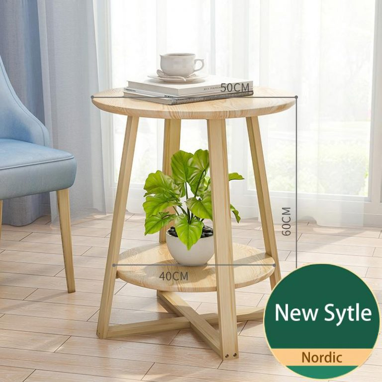RuYiYu - X-Shape Wood Legs Coffee Table