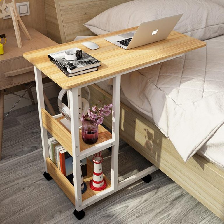 Simple Laptop Table Bed with Lazy Desktop Computer Desk Simple Mobile Learning Writing Desk 80*40*74cm