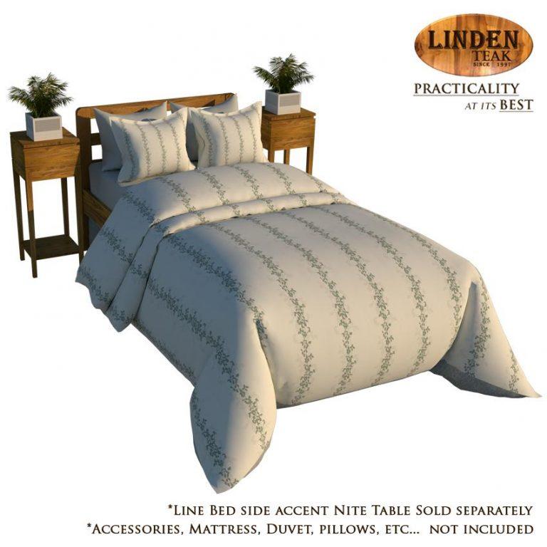 Linden Teak Handcrafted Solid Teak Wood Simple Bed Frame Single Size Furniture (Gold Teak Series Indoor Design)