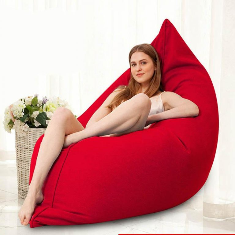 Removable Washable Cotton&Linen Bean Bag Chair Bed Lazy Sofa Comfort Creative Hotel Apartment Fabric Sofa 100x140cm