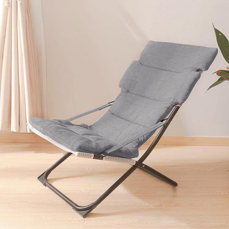 Folding Bed Winter/Summer Nap Couch Recliner Chair Fishing Beach Cushion Cover Mattress Bed Laying Siesta Deck Chair