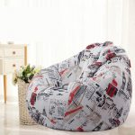 Removable Washable Cotton&Linen Bean Bag Chair Bed Comfort Children Indoor Outdoor Cozy 80x90cm