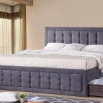 Peniton Tufted Bed Frame W/ Pull Out