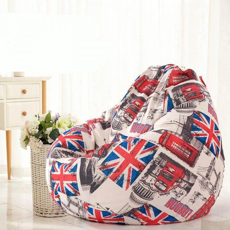 Removable Washable Cotton&Linen Bean Bag Chair Bed Comfort Soft Soom Sofa 90x110cm