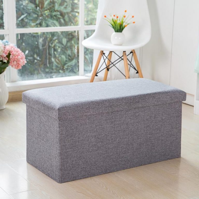 Clothing Store Storage Chair Sofa Stool Household Fabric Storage Cabinets European Style Rectangular Shoe Trying Stool Can Storage Footstool