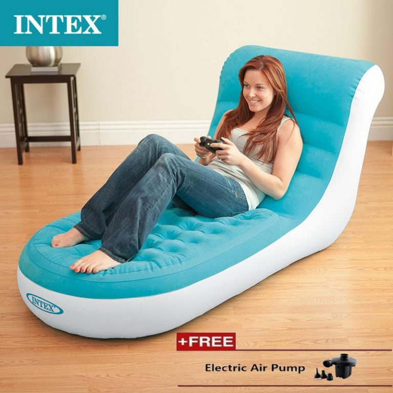 INTEX 68585 Single Backrest Lazybones Lazy Leisure Chair Inflatable Sofa