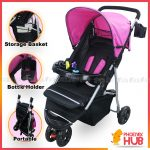 Beibeimiya A020 Baby Jogger Stroller with Food Tray and Toys Foldable Stroller