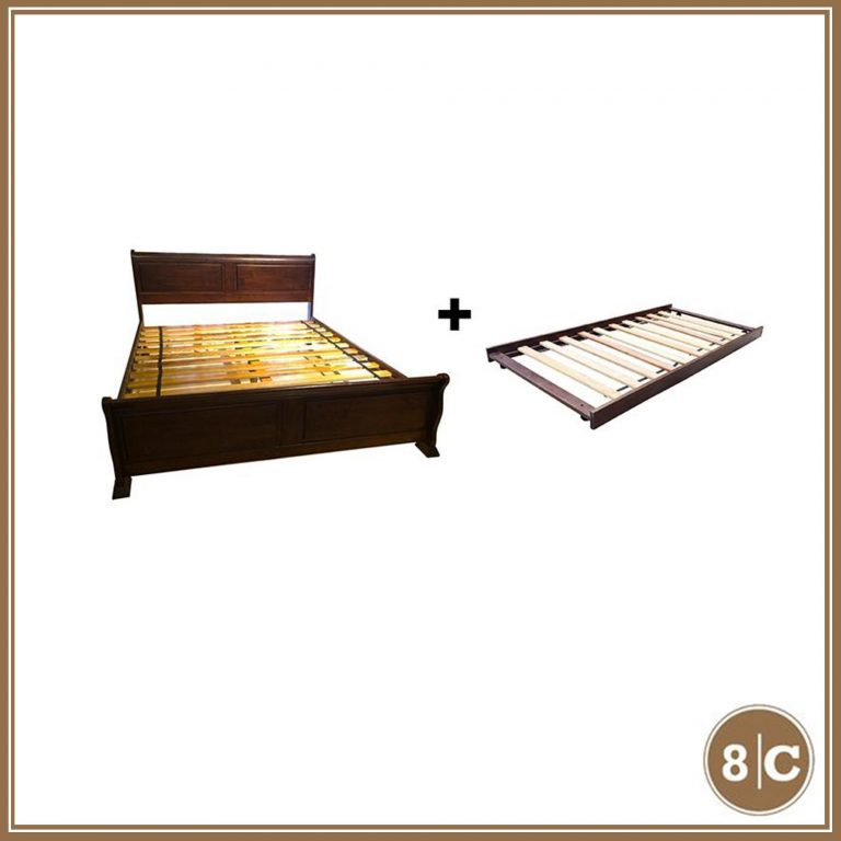 """8C SASSY 60"""" X 75"""" QUEEN BED + 36"""" X 75"""" SINGLE PULLOUT BED"""