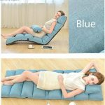 MOONLIGHT Casa Relaxing Folding Sofa Chaise Lounge Chair Home Adjustable Folding Lazy Sofa Bed Relax Chair Floor Cushion Multiangle Couch Beds for Watch TV/ Gaming/ Midday Rest/ Nap