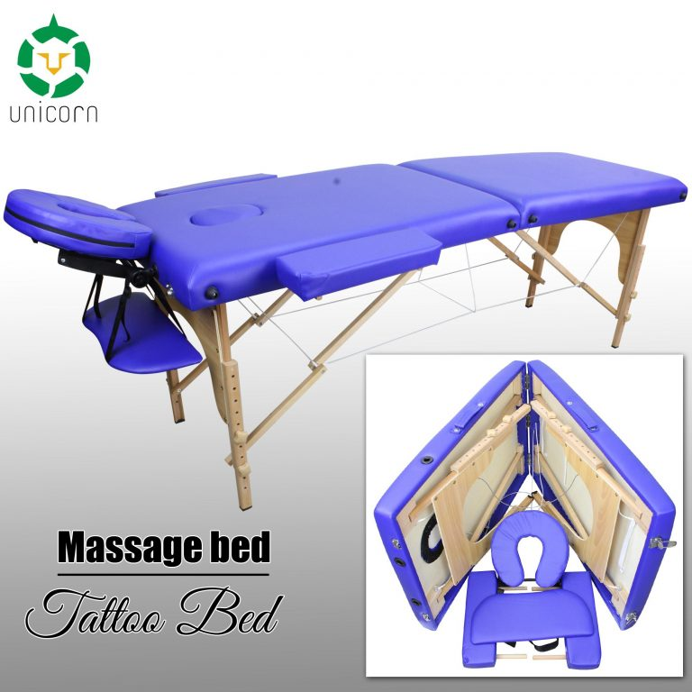 Unicorn New Portable Folding Massage Table Massage Bed Tattoo Bed with Adjustable Height