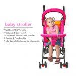 Infant Baby Car Stroller Portable Four-Wheel Shock Absorber