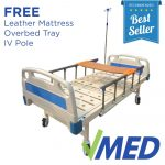 Two Cranks Hospital Bed with Wooden Dining Table