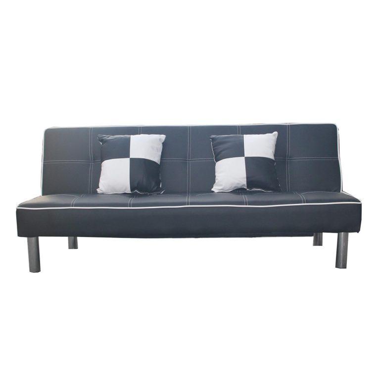 Hapihomes Emma Sofa Bed ( Black & White)