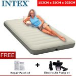 GoodGoal INTEX 68755 Inflatable Airbed Double bed With Pump and Pillows For
