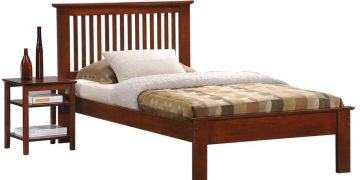 Longlife Howard Single Bed Frame (Brown)