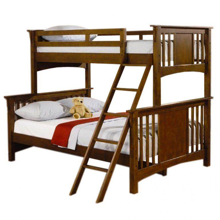 Longlife NV-1100 Double Deck Bunk Bed Frame Only 36 X 75 Upper & 54 x 75 Bottom (Brown)