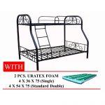 Metal Double Deck 36/54x75 with 2pcs Uratex Foam