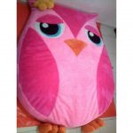 QUALITY Pink Owl Stuffed Toy Bed (BUDGETPLUS)