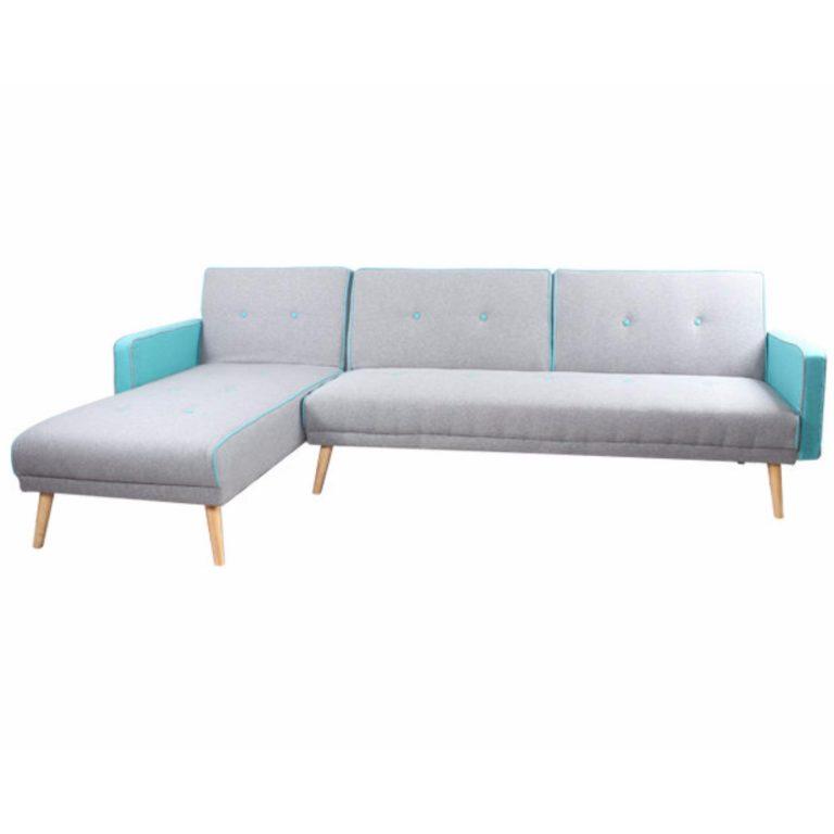 Qube Flotti California Sofa Bed (Color: Lightgrey)