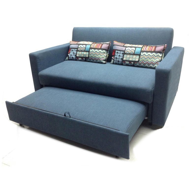 Sigma RC-80167 3-Seater Retractable Sofa Bed (Blue)