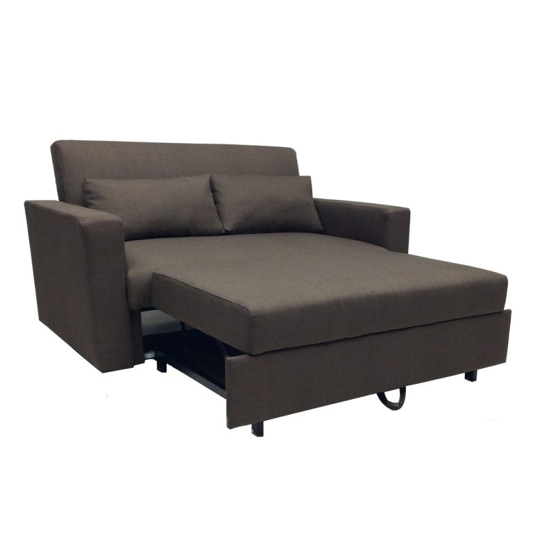 Sigma RC-80167 3-Seater Retractable Sofa Bed (Brown)