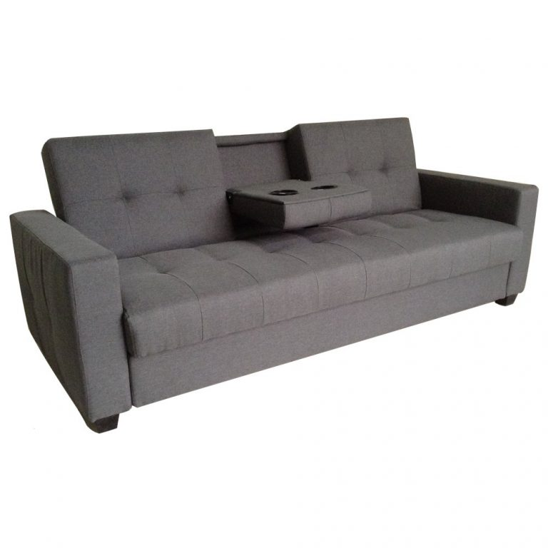Sigma RC-80626 Home Cinema Sofa Bed with Console Table (Grey)