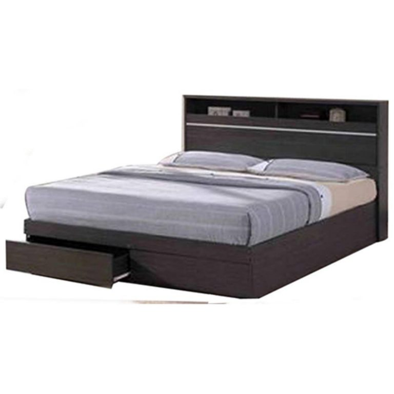 """Wooden Bed with drawers  48"""" x 75"""" ED8022 (Double)"""