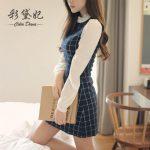 Korean style slim-fit long-sleeved knitted dress